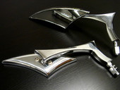 CUSTOM CHROME MINI MIRRORS for Honda, Suzuki, Kawasaki, Yamaha