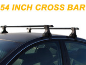 54'' Car Top Roof Cross Bars Crossbars Luggage Cargo Carrier Rack Window 135cm for Honda Odyssey Pilot Mdx Bmw X5 X6 Suv Window Frame Ford Expedition Explorer Gmc Yukon Chevy Tahoe Envoyjeep Patriot Grand Liberty Laredo Dodge Durango Chrysler Pacific