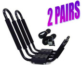 2 PAIRS~ UNIVERSAL ROOF J RACK KAYAK BOAT CANOE CAR SUV VAN TOP MOUNT CARRIER