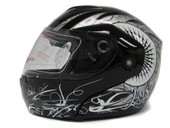 Spark Black Flip Up Modular Full Face Motorcycle Helmet Street DOT APPROVED