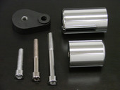 NO CUT CHROME FRAME SLIDERS For 2007-2008 KAWASAKI Ninja ZX6 ZX6R ZX-6R/RR 07 08