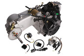 150CC GY6 SHORT CASE SCOOTER ATV GO-KART ENGINE MOTOR 150 CVT AUTO CARB COMPLETE