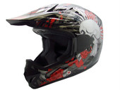 Black Rose Skull Dirt Bike Motocross Helmet Mx Gear