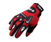 TMS YOUTH GLOVES MOTORCYCLE ATV MOTOCROSS DIRT BIKE OFF-ROAD MX RED