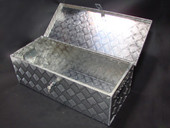 "30""L Aluminum Truck Pickup Bed Trailer Atv Tongue Lockable Tool Box Tote Storage"