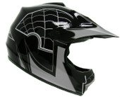 Youth Motocross Motorcross Dirt Bike MX ATV Off-Road Helmet Black Spider