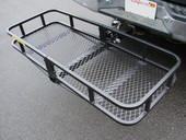 "48x20 Folding Cargo Carrier Luggage Basket 2"" Hitch Truck Atv Suv Pick up Hauler"