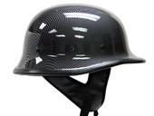 DOT German Carbon Fiber Motorcycle Cruiser Chopper Half Helmet Biker