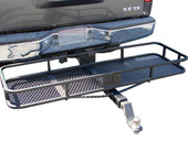 "60""x20"" Folding Cargo Carrier Basket Hitch Tow 2"" Receiver Towing"