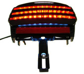 Smoke Tri-bar Fender LED Tail Brake Light for Harley Dyna Fat Bob Fxdf 2008 Up