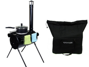 Image 1  sc 1 st  T-MotorSports & Portable Military Camping Hunting Ice Fishing Cook Wood Stove Tent ...