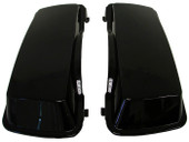 Pair Vivid Black ABS Saddlebag Lids for Harley Davidson Hd Touring Saddle Bags