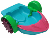Kids Swimming Pool Paddler Boat Hand Power Paddle Wheel Colorful Water Float Toy (Blue)