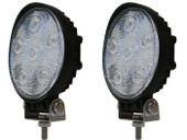 "2 x 4"" 18W 1500LM Round LED Work Driving Fog Spot Light Bar Off-Road 4X4 ATV UTV"