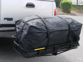 "45"" EXPENDABLE CARGO CARRIER BAG Hitch Mount Roof Top Rack Luggage Weather-Resistant"