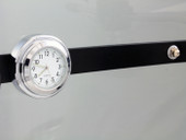 Motorcycle Windshield Windscreen Chrome White Dial Clock For Kawasaki Honda Yamaha Suzuki Harley Davidson Cruiser