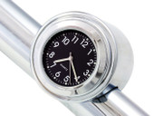 "7/8"" 1"" Motorcycle Handlebar Chrome Black Dial Clock for Yamaha Kawasaki Honda Suzuki Harley Davidson Cruiser Bobber"