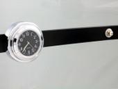Motorcycle Windshield Windscreen Chrome Black Dial Clock for Kawasaki Honda Suzuki Yamaha Harley Davidson Cruiser