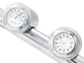 "7/8"" 1"" Motorcycle Handlebar Chrome Dial Clock Temp Thermometer For Honda Harley Davidson Suzuki Yamaha Kawasaki"
