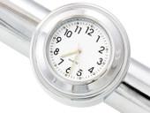 "7/8"" 1"" Motorcycle Handlebar Chrome White Dial Clock for Yamaha Kawasaki Honda Suzuki Harley Davidson"