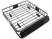 Black Roof Rack Cargo Car Top Luggage Holder Carrier Basket Travel SUV
