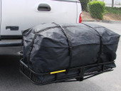"48"" x 20"" Hitch Mount Folding Cargo Carrier Basket w/ Waterproof Luggage Bag"