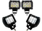 4 X 18w 1260lm Cree Spot Led Work Light Bar Off-road SUV Boat 4x4 Jeep Lamp 4wd