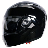 Gloss Black FLIP UP MODULAR MOTORCYCLE DUAL SHIELD SMOKE VISOR HELMET