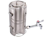 Stainless Steel Outdoor Water Kettle for Wood Military Camping Stove Flue Pipe