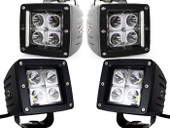 4x Dually Cube 16W CREE LED Spot Fog Driving Trail Light Off Road Bar Jeep Truck