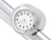 "7/8"" 1"" Motorcycle Handlebar Chrome White Dial Clock For Honda Suzuki Yamaha Kawasaki Cruiser Bobber Harley Softail Dyna XL"