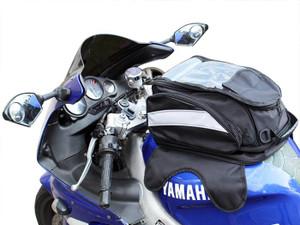 Black Motorcycle Sport Bike Riding Magnetic Gas Tank Bag Backpack