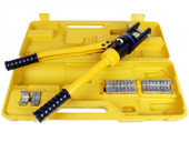 6 Ton Hydraulic Wire Battery Cable Lug Terminal Crimper Crimping Tool 11 Dies