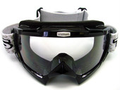 Adult BLACK GOGGLES Motocross MX Dirt Bike ATV Off-Road