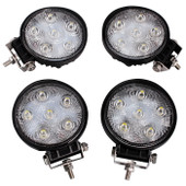 "4 x 4"" 18W 1500LM Round LED Work Driving Fog Spot Light Bar Off-Road 4X4 ATV UTV"