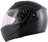 Carbon Fiber Flip Up Modular Motorcycle Full Face Street Helmet~S M L XL