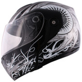 Spark Black Flip Up Modular Motorcycle Full Face Street Helmet~S M L XL