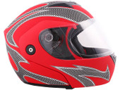 Carbon Flame Matte Red Flip Up Modular Motorcycle Full Face Helmet~S M L XL XXL