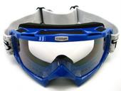 Adult BLUE GOGGLES Motocross MX Dirt Bike ATV Off-Road
