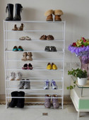 50 Pair 10 Tier Shoe Storage Tower Rack Metal Shelf Home Organizer Stand Holder