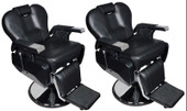 2 Pcs All Purpose Hydraulic Recline Barber Chair Salon Beauty Spa Shampoo Equipment