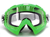 Adult GREEN GOGGLES Motocross Dirt Bike ATV Off-Road