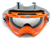 Adult ORANGE GOGGLES Motocross Dirt Bike ATV Off-Road