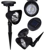 1 X Solar Spot Light Outdoor Garden Lawn Landscape 4-LED Spotlight Path Lamp New