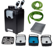 3 Stage External Fish Canister Filter Power Pump For Aquarium Pond Tank 265 GPH