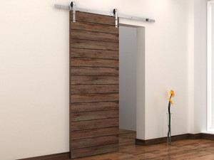 6 FT Country Stainless Steel Sliding Barn Wood Door Hardware Track Set  Antique