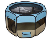 "Blue Portable 45"" Pet Dog Puppy Soft Tent 2 Doors Playpen Exercise Folding Crate"