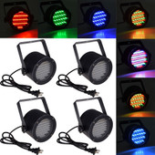 4pcs 86 RGB LED Stage Light Par DMX-512 Lighting Laser Projector Party Club DJ