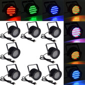 8pcs 86 RGB LED Stage Light Par DMX-512 Lighting Laser Projector Party Club DJ