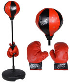 Adjustable Kids Children Punching Boxing Ball Stand w/Gloves Exercise Equipment